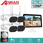 "HD 2MP WIFI Wireless Security Camera CCTV System 8CH NVR Set with 12""Monitor 1TB"