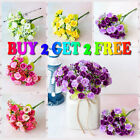 21 Head Artificial Flowers Silk Diamond Rose Bouquet Flor Party Home Decoration