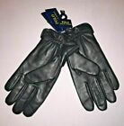 Polo Ralph Lauren Men's Black Wool Sheep Leather Touch Gloves
