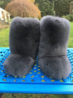 Fox Fur Boots For Outdoor Eskimo Fur Boots Double-Sided Dark Gray Arctic Boots
