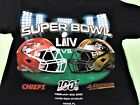 Super Bowl LIV KC Chiefs vs SF 49ers Black T-Shirt PLUS 5 FREE VINTAGE CARDS