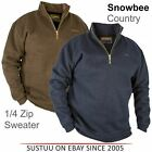 Snowbee Men's Country 1/4 ZIP Waterproof/Breathable Sweater│Blue/ Green│All Size