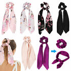 Bow Satin Long Hair Band Ponytail Scarf Hair Tie Scrunchies Hair Rope Accessory
