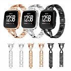 Replacement Wristband Watch Bracelet Bling Metal Wrist Band for Fitbit Versa