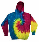Colorful Tie Dye Pullover Multi Color Hoodie