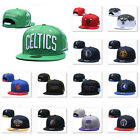 Classic Embroidered Basketball Team Logo Flat Brim Snapback Baseball Cap Sun Hat on eBay
