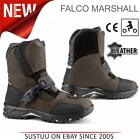 Falco Marshall Motorcycle/ Motorbike Men's Leather Boots│CE App.│Brown│All Sizes