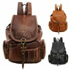Women Vintage Leather Backpack Bag Shoulder School Travel Bag Satchel Rucksack  image
