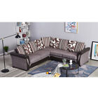 Luxury L-Shaped 2+2 Seater Fabric Coner Sofa Armchair Chair Couch Living Room