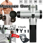 4 Head Massage Gun Percussion Muscle Vibration Relaxing Machine Sports Recovery $73.69 USD on eBay