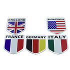 Car Motorcycle Sticker Britain/Italy/France/Germany Flag Logo Metal Tail Emblem $1.31 CAD on eBay