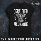 Certified Mechanic T Shirt Engine Car Triumph Indian Motorcycle Piston Cylinder €11.16 EUR on eBay
