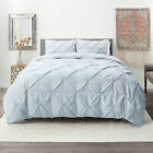 Pinch Pleated Duvet Cover Set Luxurious Premium Quality Comforter Cover Set