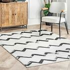 nuLOOM Vintage Addison Modern Chevrons Area Rug in Gray