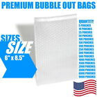 6x8.5 Bubble Out Bags Protective Wrap Pouches Cushioning Clear Self Seal All Qty