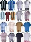Men's 2pc Walking Suit Short Sleeve Casual Shirt &Pants Set M2968 2970 2971 2972