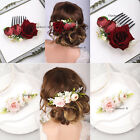 Florals Wreath Crowns Rose Hair Combs for Brides Wedding Bridal Vintage Headband