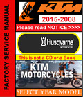 KTM Repair Service Workshop Manual 2008 2015 Select your Year & Model Husqvarna