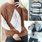 Mens Winter Warm Knit Outerwear Pullover Long Sleeve Jumper Sweater Top 2020