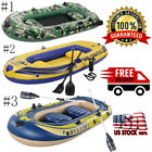 US PRO 4Person 10FT Inflatable Portable Sport Kayak Canoe Boat w/ Paddles