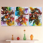 3Pcs Colorful Abstract Canvas Oil Painting Art Print Wall Picture Indoor