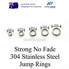 7 Sizes Strong No Fade 304 Stainless Steel Jump Rings 50/100 Pcs 5mm 6mm 7mm