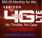 Kyпить Verizon Unlimited Data Plan - $50 Monthly - No cap or Throttle - No contract на еВаy.соm