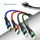 USAMS 3/4in1 2*Lightning Type-C Micro USB Data Charging Cable for iPhone Android