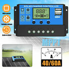 12/24V 40/60/100A MPPT Solar Charge Controller Panel Battery Regulator Dual USB
