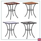 Mosaic Bistro Tables Coffee Table  Square 60x60cm Ceramic Outdoor Garden Balcony