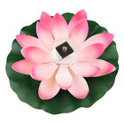 Floating Lotus Pad Solar Light Pond Garden Decoration Water Feature Light Flower