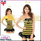Ladies Womens Bumble Honey Bee 3 Piece Sexy Fancy Dress Costume Outfit UK 8-10