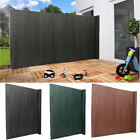 PVC Screen Fencing Border Garden Privacy Fence Wind Sunshade Panels + Fixing Kit