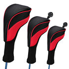 3Pcs Golf Club Head Covers Set Driver 1 3 5 Fairway Woods Headcovers Long Neck