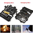 9 in 1 SOS Kit Outdoor Emergency Kit Equipment Box For Camping Survival Gear