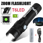 T6 LED USB Rechargeable Super Bright 18650 Tactical Waterproof Flashlight Torch