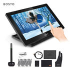 """BOSTO Digital Graphics Drawing Tablet 15.6""""in Pen Tablet H-IPS With Stylus Pen"""