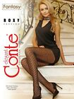 CONTE Elegant Fantasy TIGHTS ROXY Black 20 DEN Fishnet Imitation Pantyhose