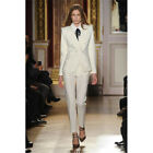 Ivory Double Breasted Female Business Suit Formal Slim Women Evening Pant Suits