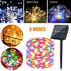 100/200 LED Solar Fairy String Light Copper Wire Outdoor Waterproof Garden Decor