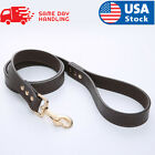 Black PU Leather Dog Leash Handle for Training and Walking Dogs 4.2ft
