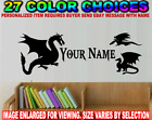 Dragon Personalized Name Decal Sticker Dinosaur Mythical Creature Ball Wall Art