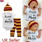 Harry Potter Snuggle This Muggle Newborn Baby Boy Clothes Tops Pants Outfits Set