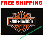 Harley Davidson Motorcycle Logo Flag Banner 3x5 ft Show Garage Wall Decor Sign $13.95 USD on eBay