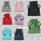 Linen Cotton Bags Birthday Pouches Drawstring Gift Bag Jewellery Ring Packaging