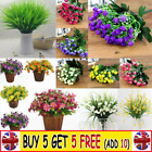 Plastic Outdoor Artificial Flowers Fake False Plants Grass Garden Home Tulipar