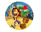 Crash Bandicoot Computer Game Party Cake Decoration Icing Sheet Birthday Party