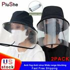 2Pack Anti-Saliva Fisherman Baseball Cap Hat Full Face Cover Shield Protective