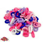 PACK OF 100 BOBBLES ASSORTED COLOURS GIRLS TODDLER KIDS ELASTIC HAIR BANDS GREAT