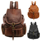 Vintage Women Backpack Leather Travel Hand Shoulder School Bag Satchel Rucksack